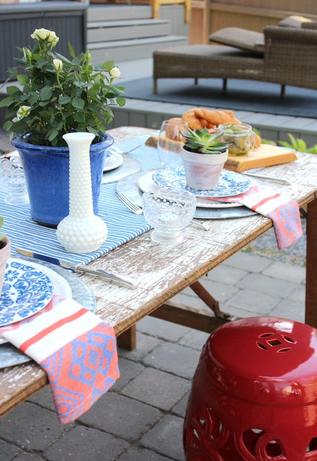 Eclectic Outdoor Table Setting