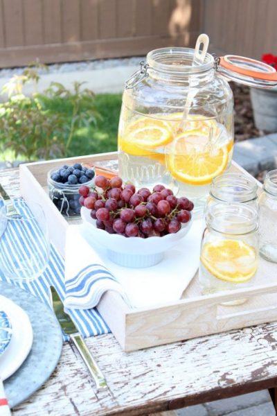 Flea Market Style Outdoor Table Setting