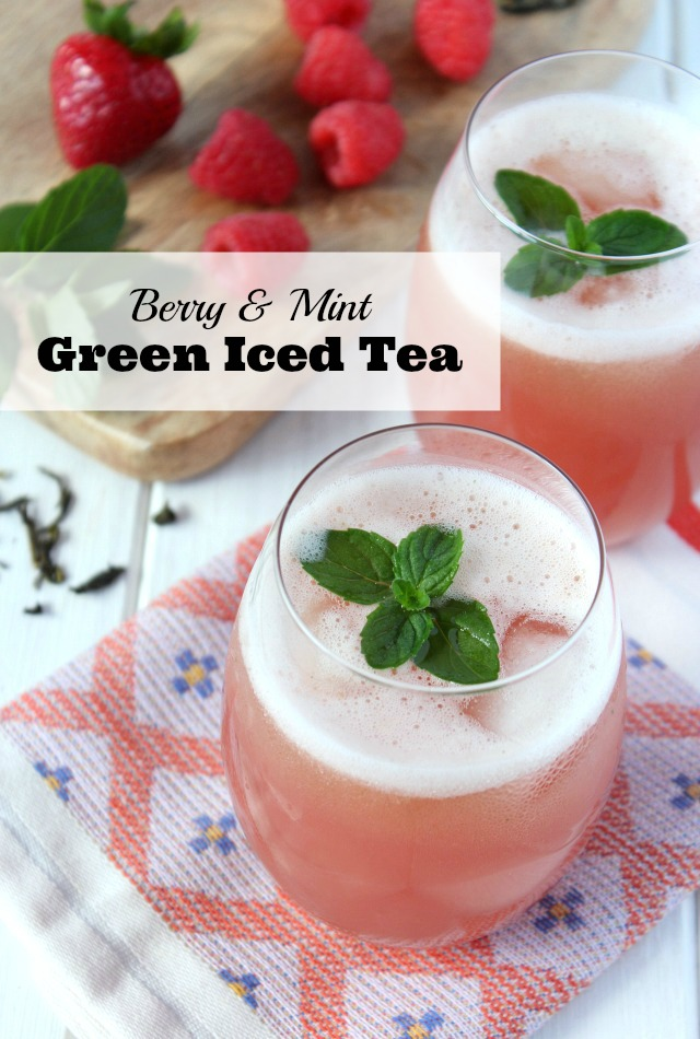 Berry Mint Cold Green Tea - A Healthy and Refreshing Summer Drink Recipe - Satori Design for Living