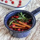 Ditch the synthetic air fresheners and make your home smell like fall with this quick and simple DIY simmer pot recipe. Details at SatoriDesignforLiving.com