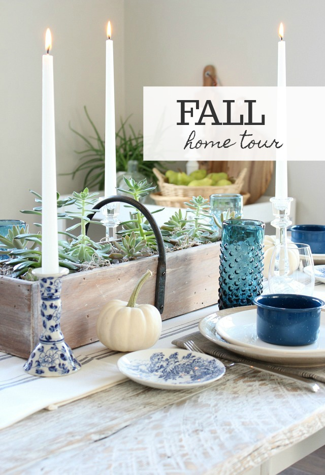 Canadian Fall Home Tour with Modern Farmhouse Kitchen and Dining Room