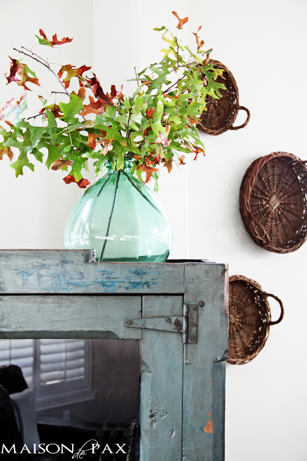 Fall Decorating Ideas Using Nature - Fall Branch Arrangement by Maison de Pax