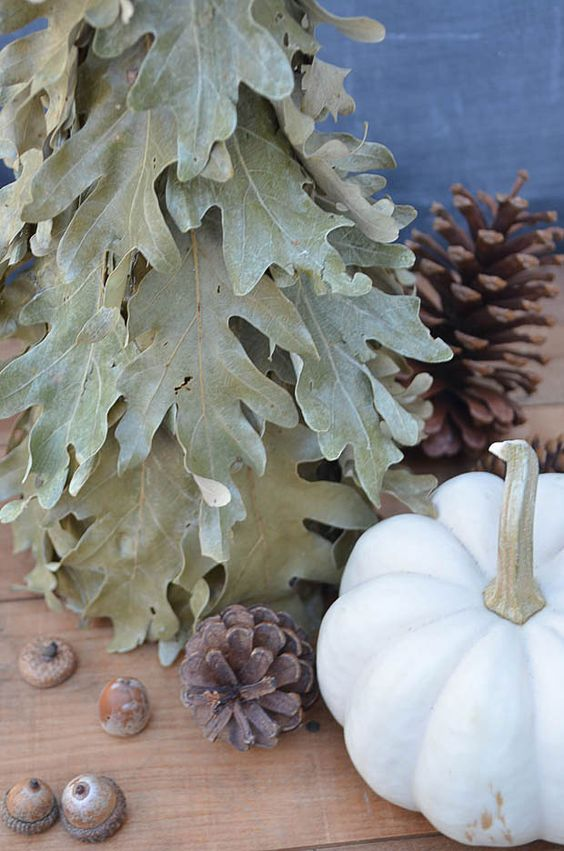 Fall Decorating Ideas - Fall Leaf Tree Decor - Anderson and Grant
