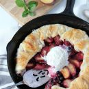 Make this scrumptious plum and saskatoon berry pie that's beautiful enough for entertaining, yet humble enough for simple Sunday family dinners!