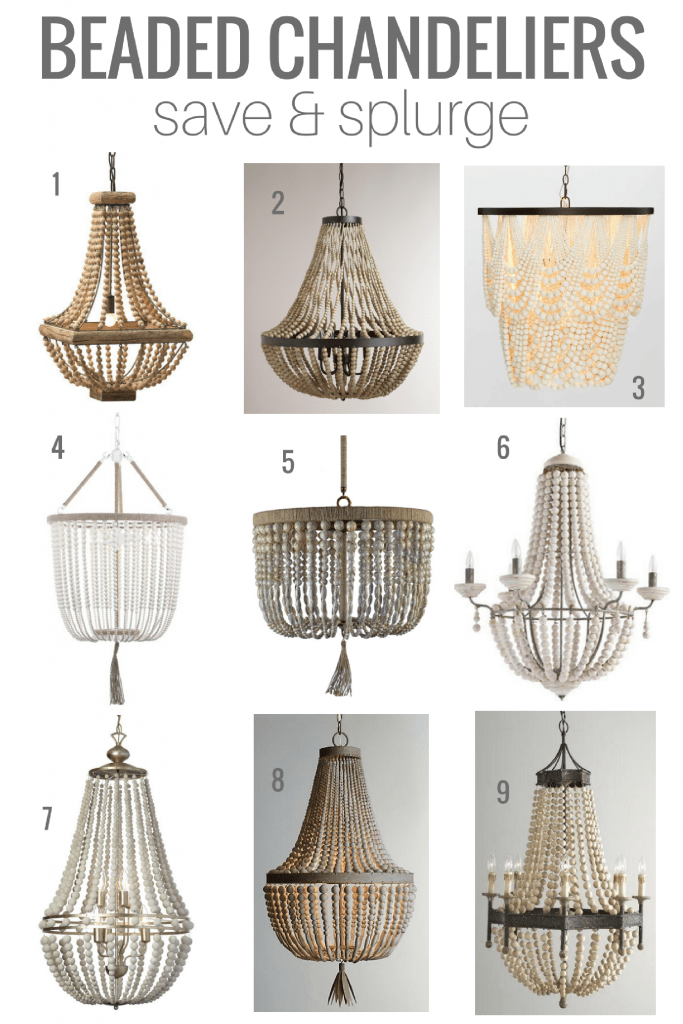 Beaded Chandelier Options at High and Low Price Points