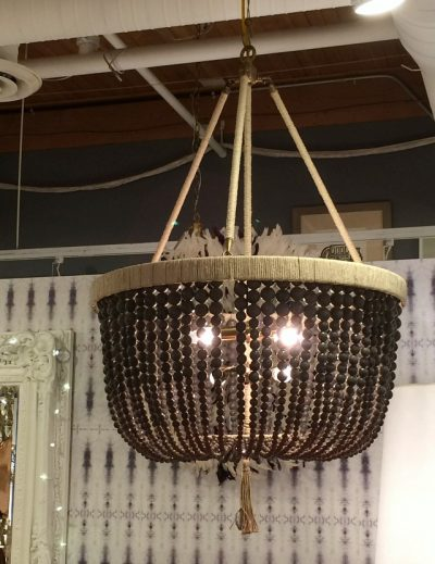 Malibu Beaded Chandelier in Smoke Black by Ro Sham Beaux - Shopping for Dining Room Light Fixtures