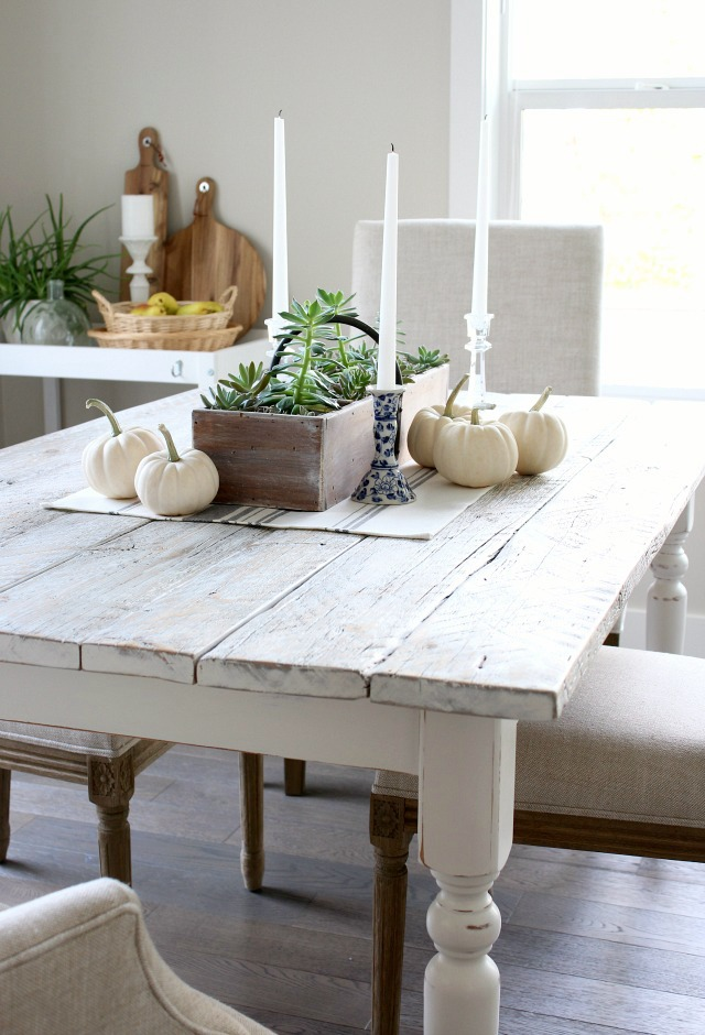 DIY Whitewashed Reclaimed Wood Table - How to White Wash a Wood Table - Satori Design for Living