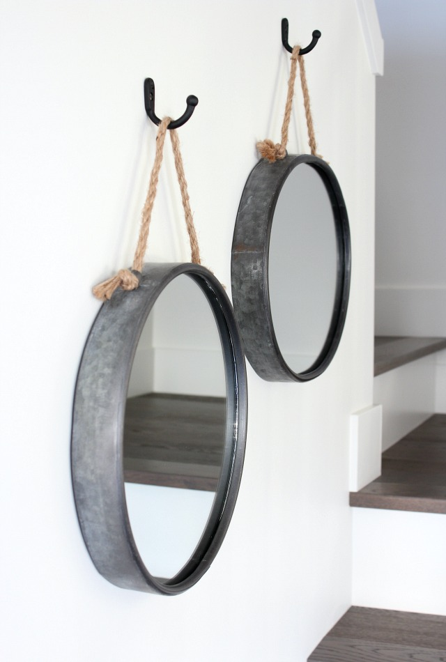 Rope Mirrors Hung from Hooks - Staircase Decorating Ideas - Satori Design for Living