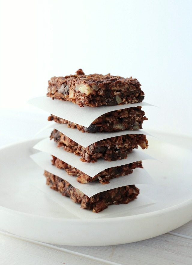 Chocolate Oat Breakfast Bars - Gluten Free Breakfast Bars Recipe