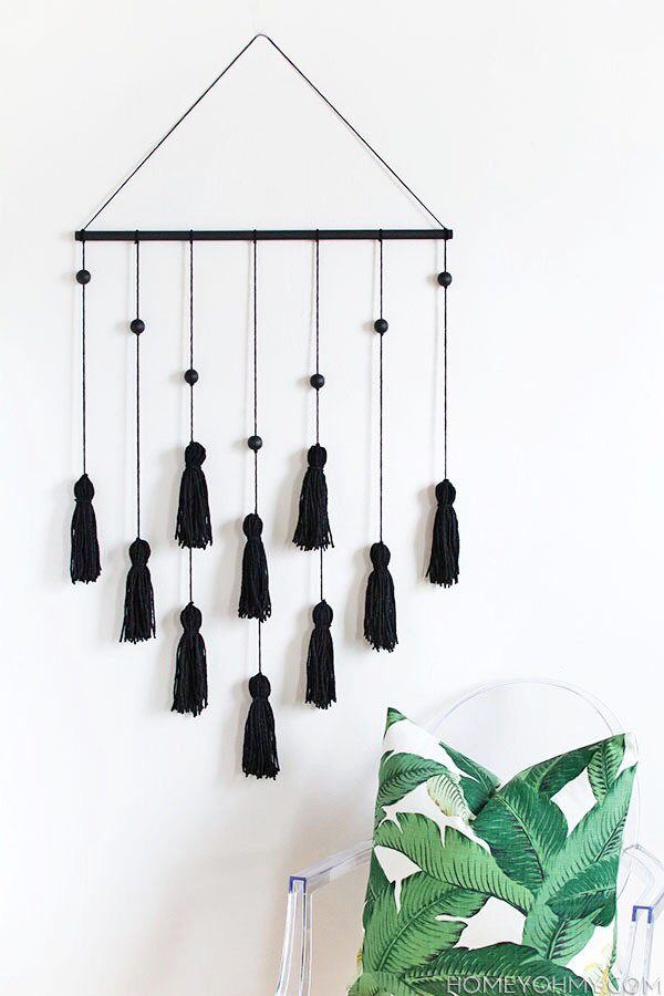 DIY Wall Art - Modern Tassel Wall Hanging Project by Homey Oh My