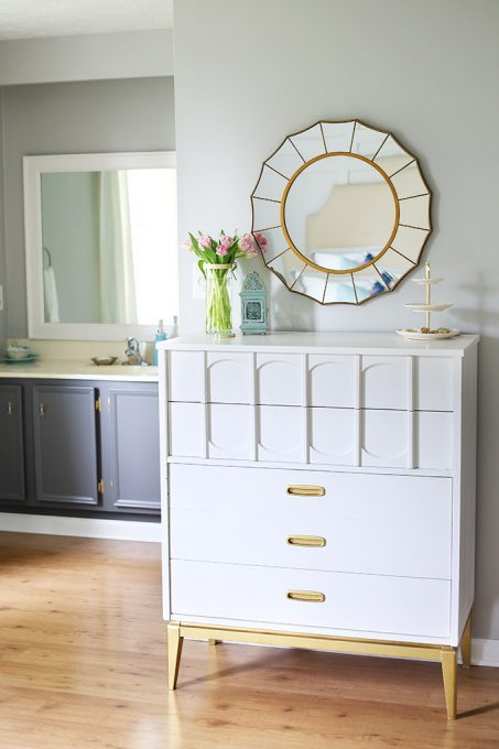 Behr Silver City Gray Bathroom - Just a Girl and Her Blog - Top Paint Color Picks