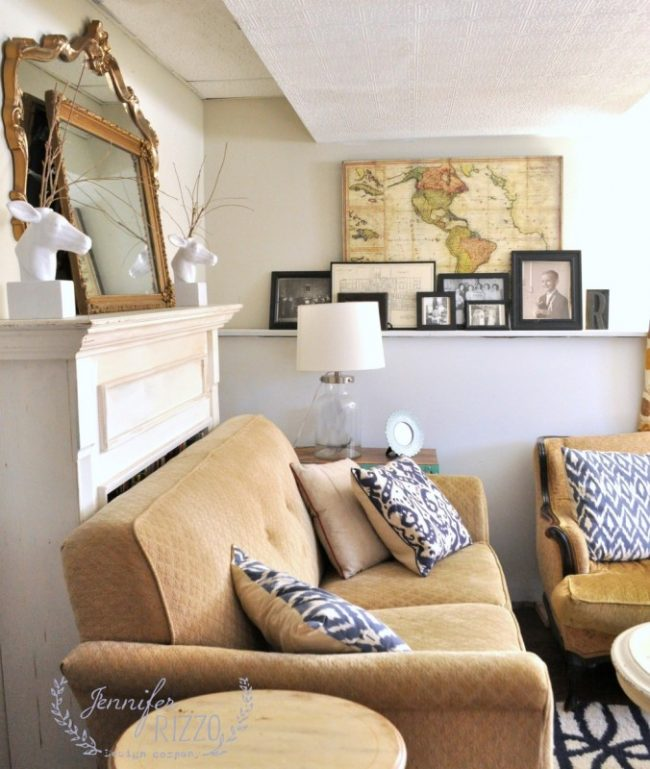 Benjamin Moore Early Morning Mist Family Room - Jennifer Rizzo - Top Paint Color Pick