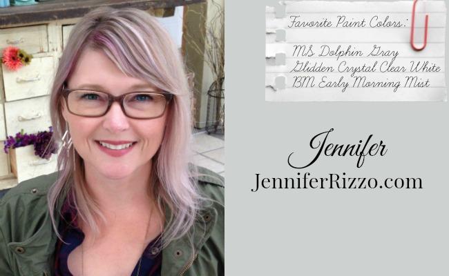 Favorite Paint Colors - Martha Stewart Dolphin Gray, Glidden Crystal Clear White, Benjamin Moore Early Morning Mist - Jennifer from JenniferRizzo.com