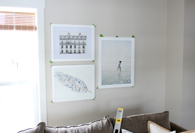 Hanging a Gallery Wall in the Living Room - Tips and Tricks for Hanging a Collection of Art