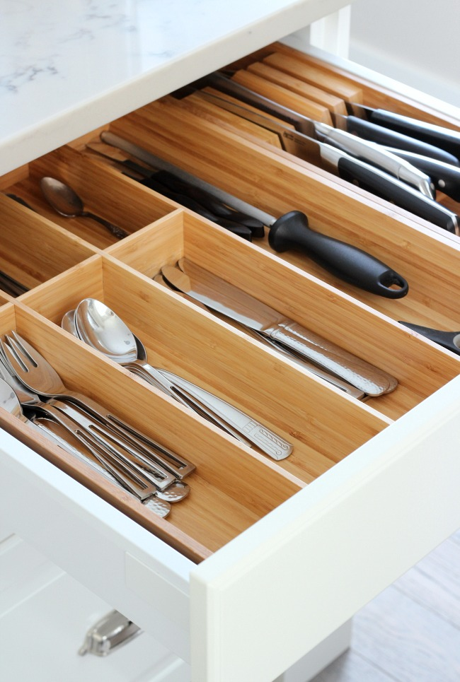 IKEA Drawer Organizers for the Kitchen - Bamboo Cutlery Tray