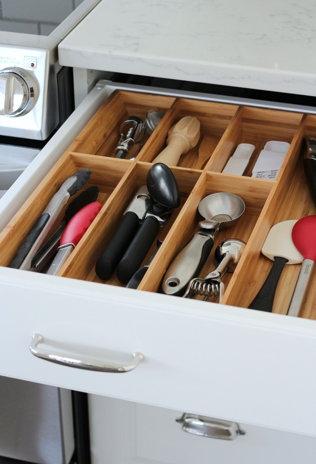 Bamboo IKEA Kitchen Drawer Organizer - Kitchen Storage Solutions