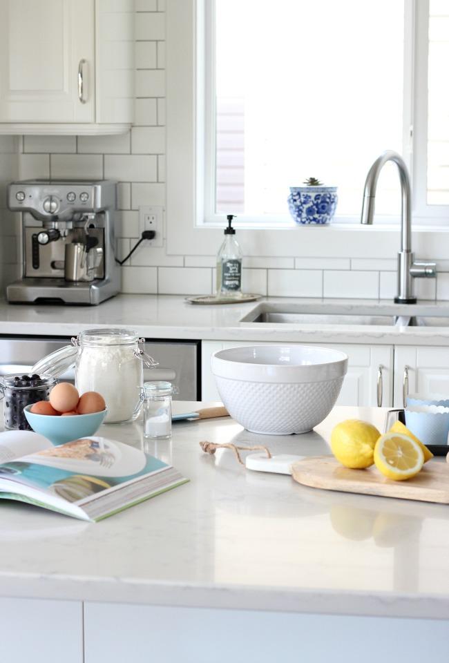 Spring Home Tour - White IKEA Kitchen with Cheery Spring Decor
