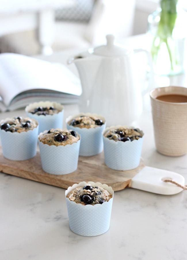 Spring Kitchen Tour - Baking Blueberry Oat Muffins Gluten-free