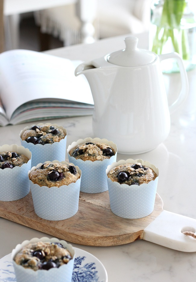 Wholesome Blueberry Oat Breakfast Muffins Gluten-Free
