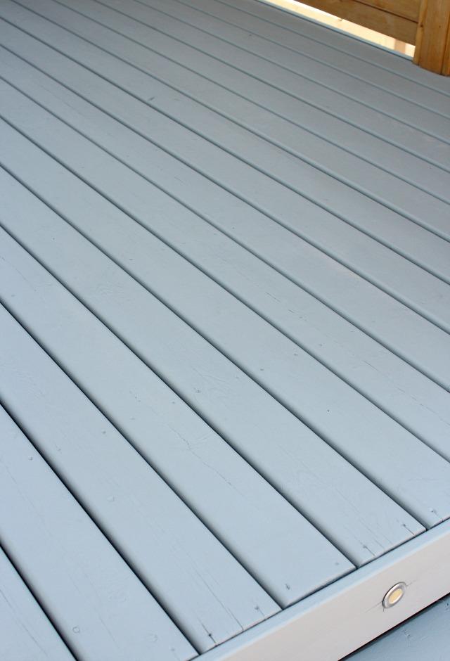 Deck Makeover - Benjamin Moore Chelsea Gray Deck