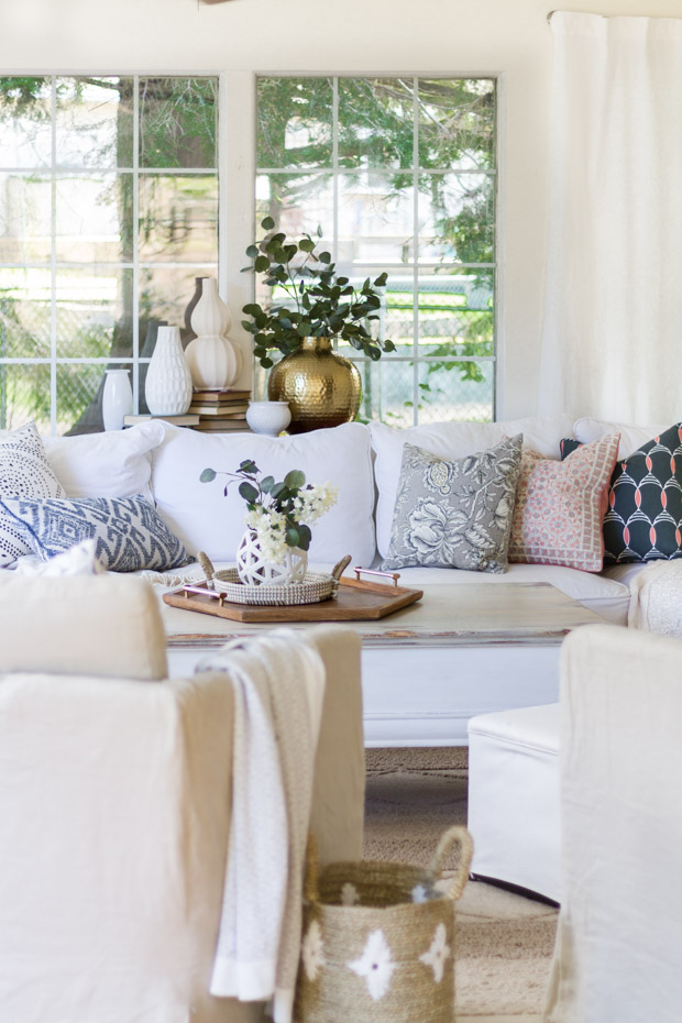 Tips for Mixing Throw Pillows - Living Room by Zevy Joy
