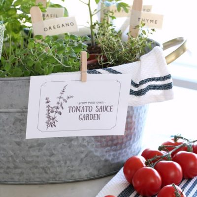 """""""Grow a Tomato Sauce Garden"""" Gift Basket - Handmade gift idea for Mother's Day, Father's Day, hostess gift, birthday or other special occasion!"""