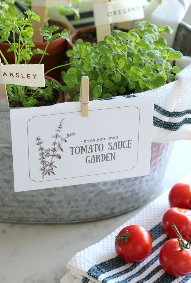 """Grow Your Own Pasta Sauce Garden"" Gift Idea for the Gardener or Foodie"