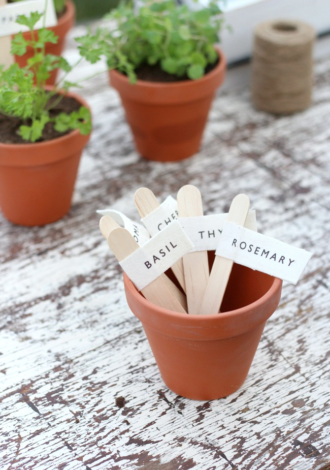 How to Make Herb Garden Markers for Plant Pots - Satori Design for Living