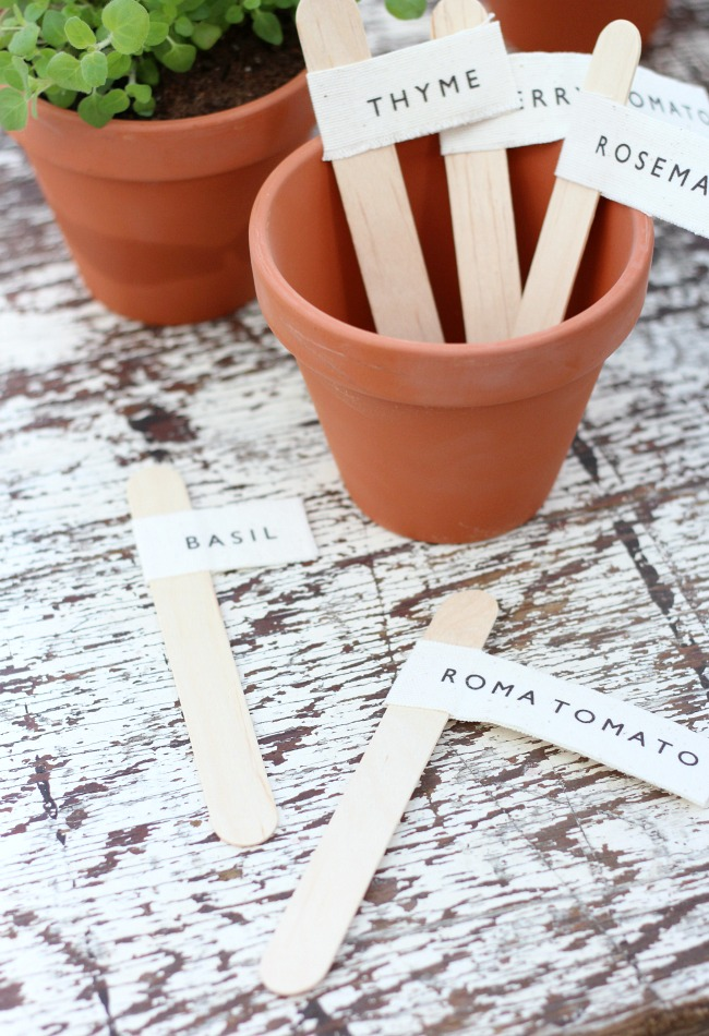 DIY Garden Markers for Potted Herbs and Vegetables - Satori Design for Living