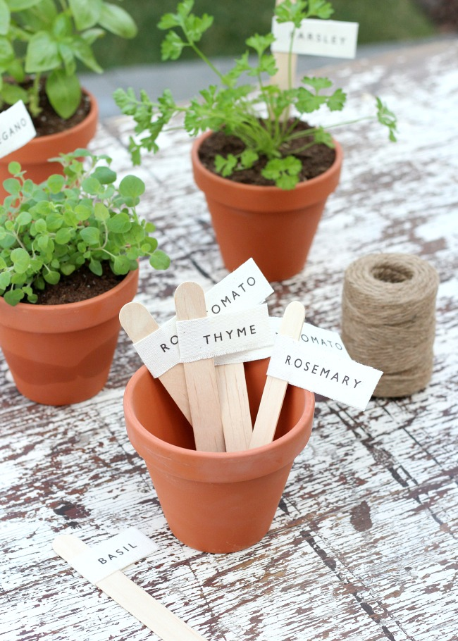 How to Make Garden Markers for Potted Vegetables and Herbs - Satori Design for Living