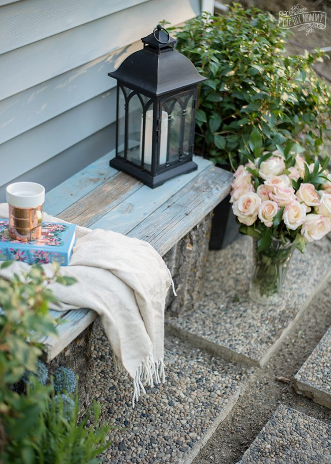 Beautiful Outdoor Living Spaces - Reclaimed Wood Garden Bench by The DIY Mommy