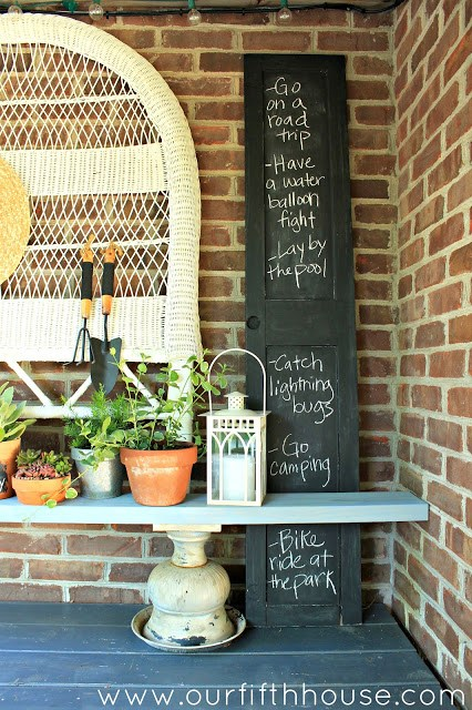 Summer Bucket List Potting Bench by Our Fifth House