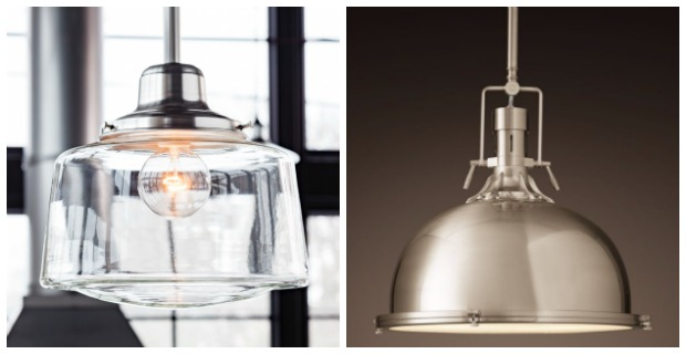 Classic White Kitchen Renovation Finishes - Vintage-inspired Pendants for the Kitchen Island