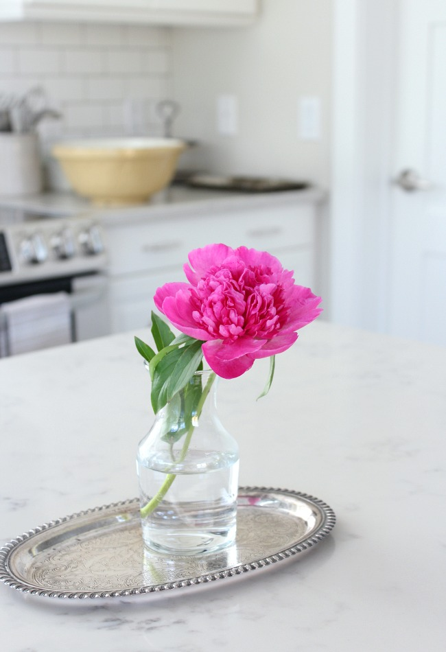 Classic White Kitchen Renovation Finishes - Marble Quartz Countertop TCE Stone 4005