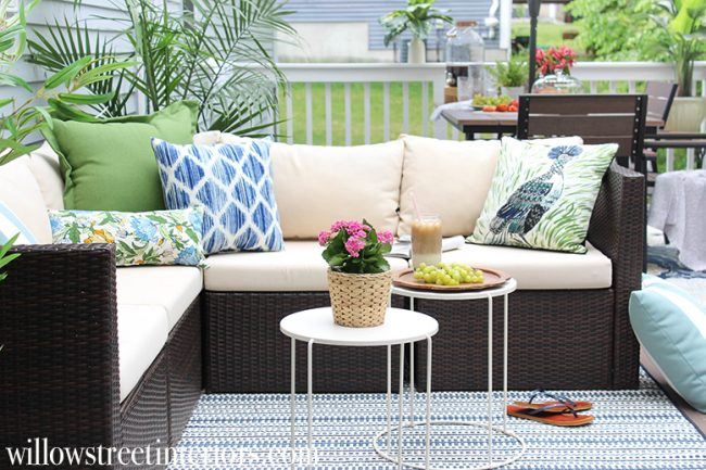 Beautiful Outdoor Living Spaces - Summer Deck Makeover by Willow Street Interiors
