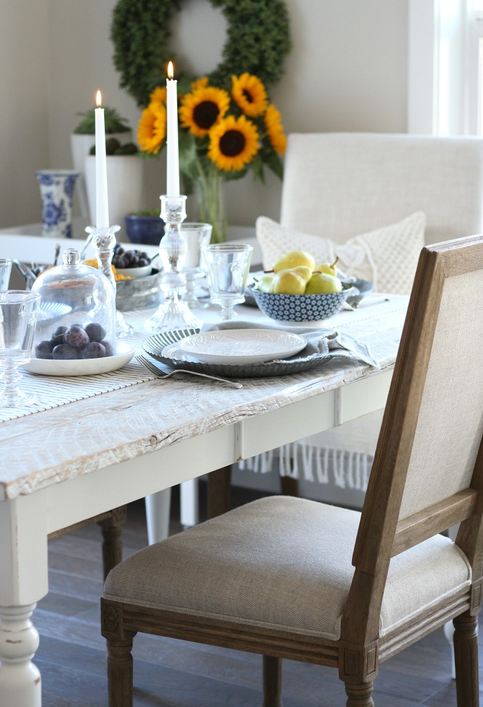 Fall Home Tour - Casual French Fall Table Setting - Satori Design for Living
