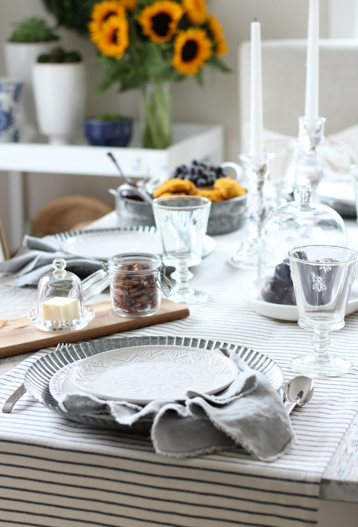 Fall Home Tour - French Countryside Inspired Table Setting - Satori Design for Living