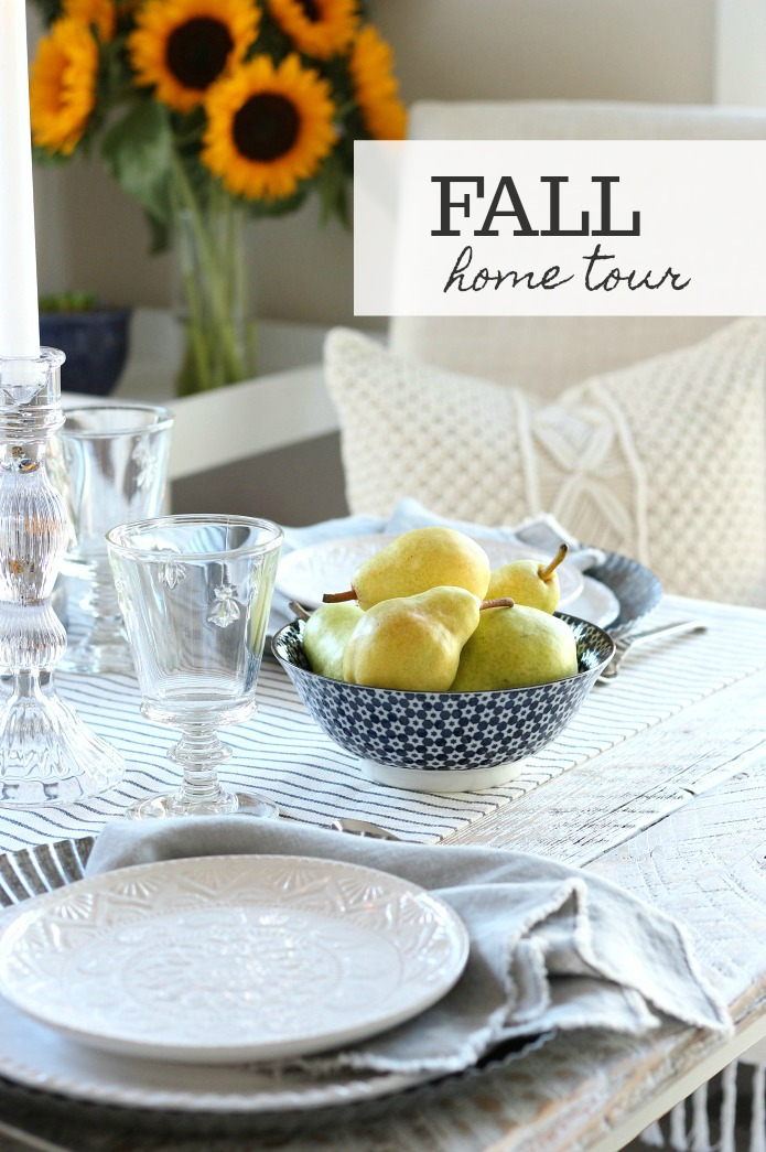 Fall Home Tour with French Farmhouse Style Table Setting