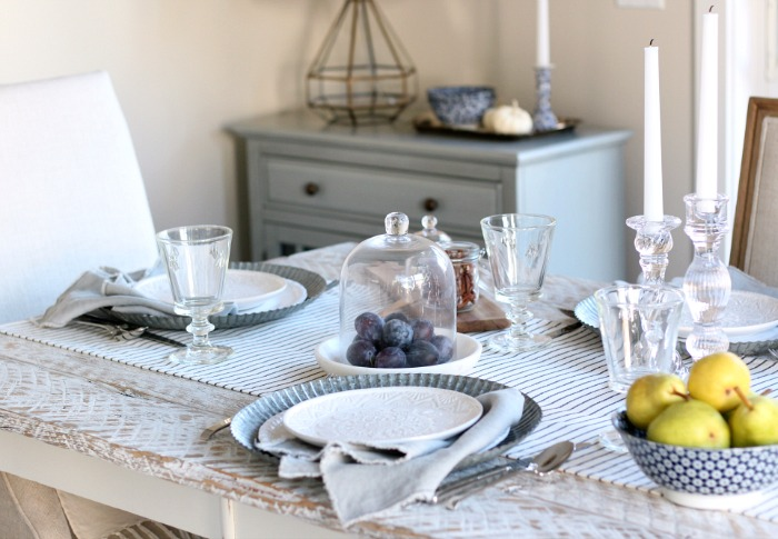Fall Home Tour - French Farmhouse Table Setting - Satori Design for Living