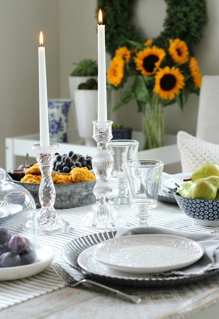 Fall Home Tour - French Farmhouse Style Table Setting - Satori Design for Living