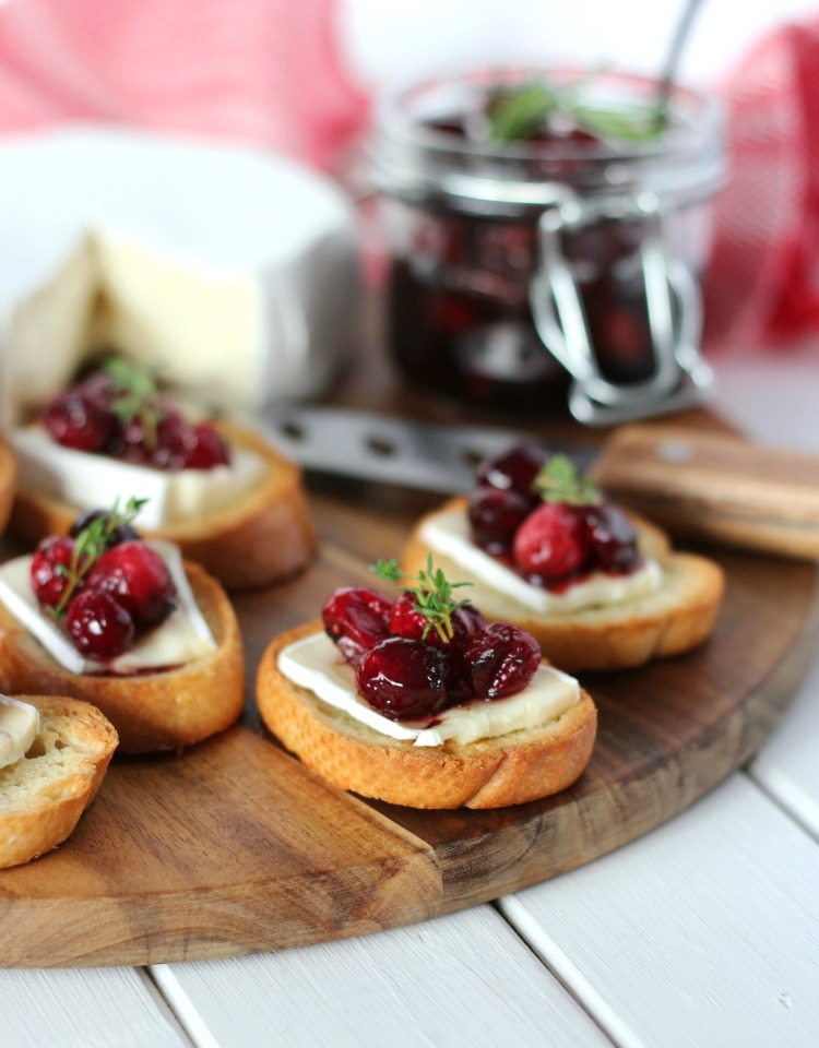 Holiday Crostini with Cranberry Compote and Brie - Satori Design for Living