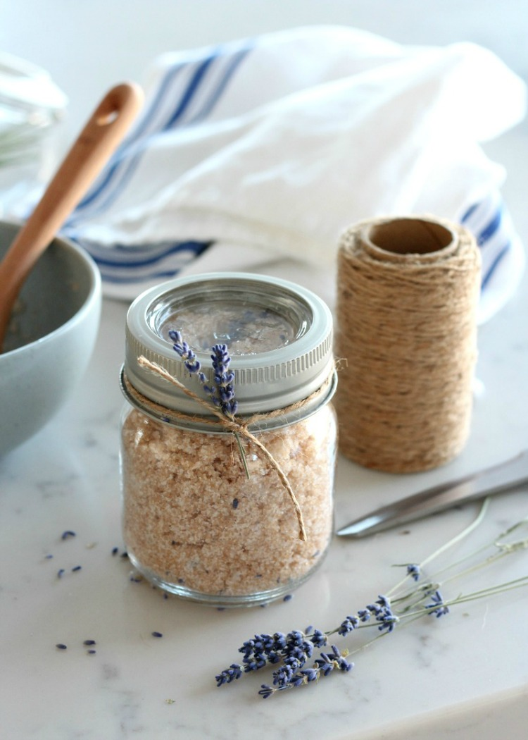 Lavender Sugar Scrub with Dried Lavender