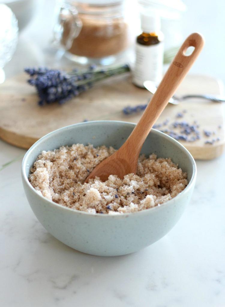Lavender Sugar Scrub Recipe - Make Your Own Sugar Scrub for Soft and Silky Hands - Handmade Christmas Gift Idea - Satori Design for Living