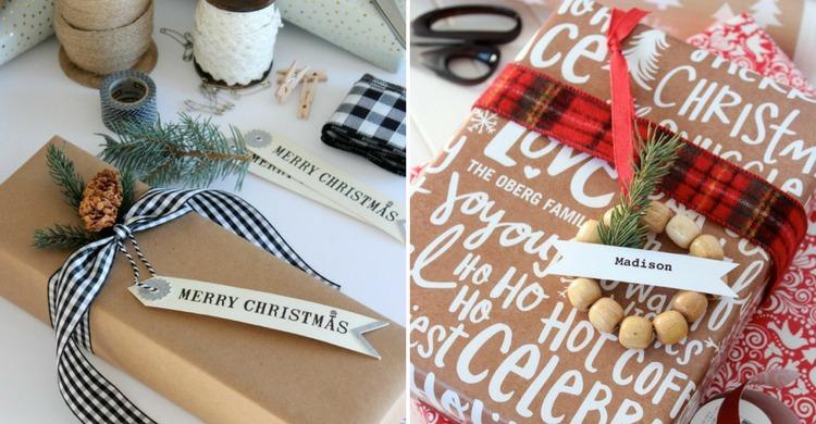 Shabby Chic Christmas Gift Toppers Satori Design For Living