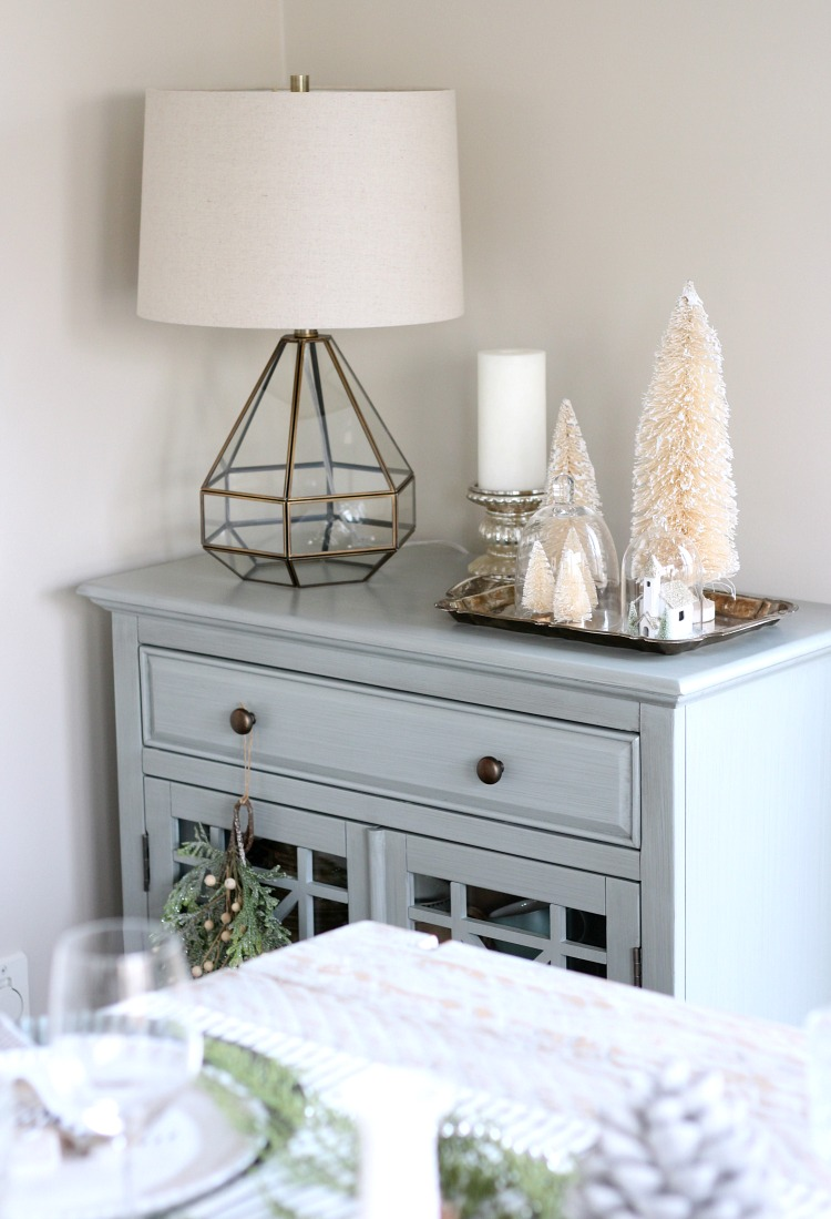Christmas Home Tour - Decorating with Bottle Brush Trees for Christmas - Satori Design for Living