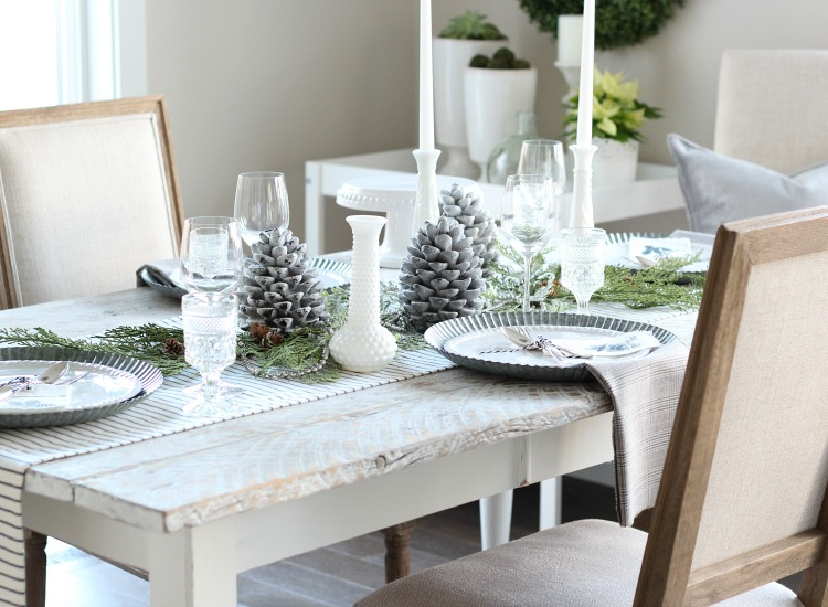 Christmas Home Tour - Simple Christmas Table Decorating Ideas and DIY Projects by Satori Design for Living
