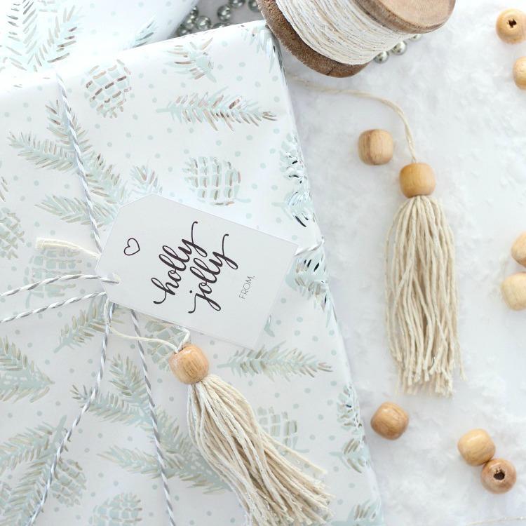 Shabby Chic Christmas Gift Embellishments - DIY Boho Style Tassel Gift Toppers - Satori Design for Living