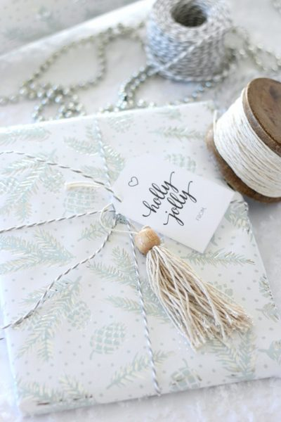 Shabby Chic Christmas Gift Toppers - Christmas Gift Wrapping Ideas - Satori Design for Living