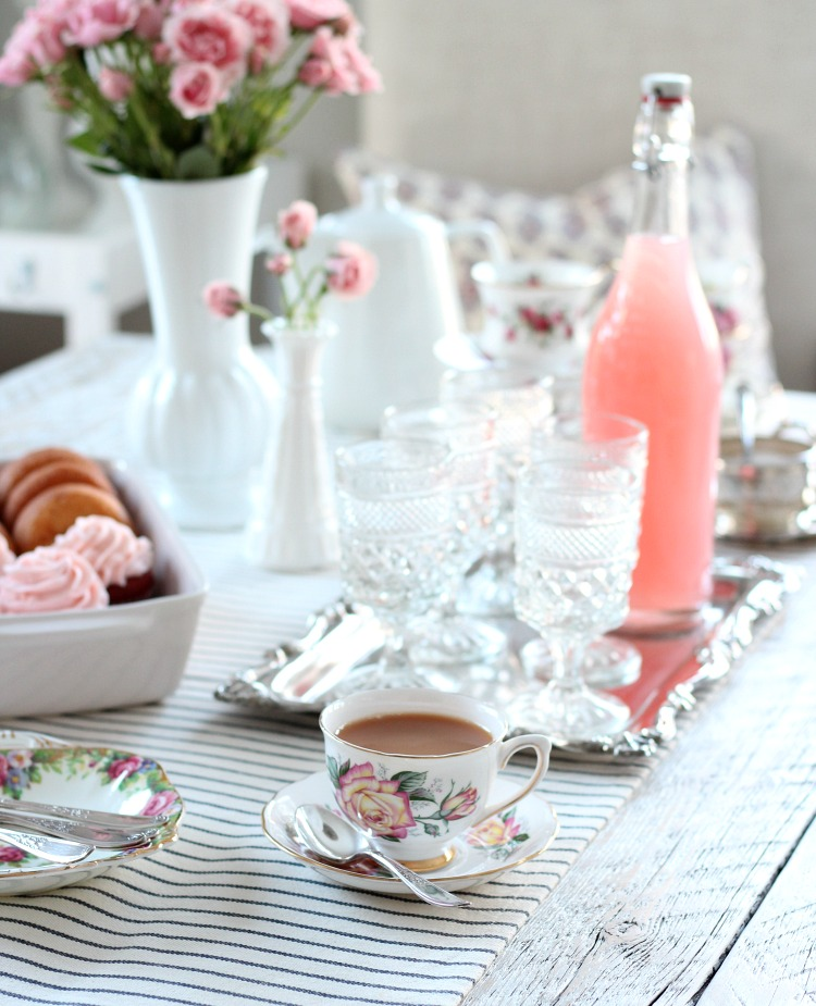 GALentine's Day Tea Party Decor - Valentine's Day Party Ideas - Vintage Tea Cups and Saucers - Satori Design for Living