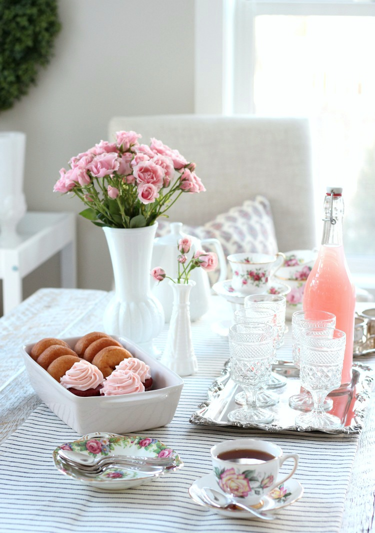 Host a Valentine's Day Tea Party for the Gals - Shabby Chic Table Decor for Party - Satori Design for Living